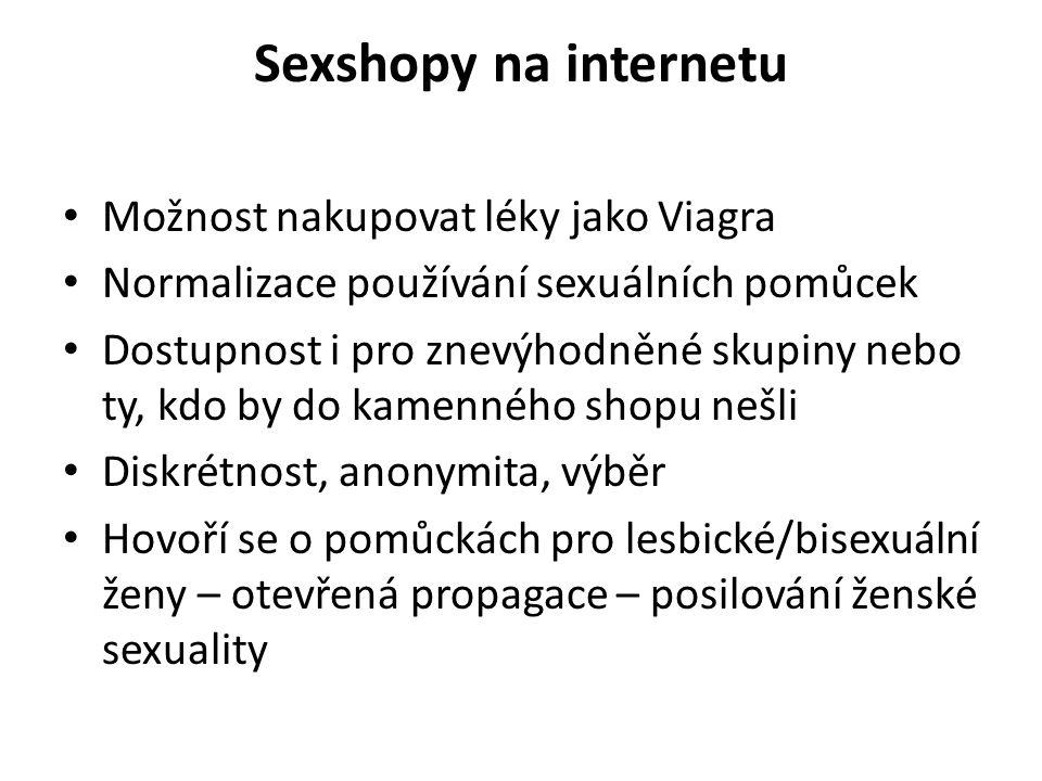 Sexshopy na internetu Možnost nakupovat léky jako Viagra