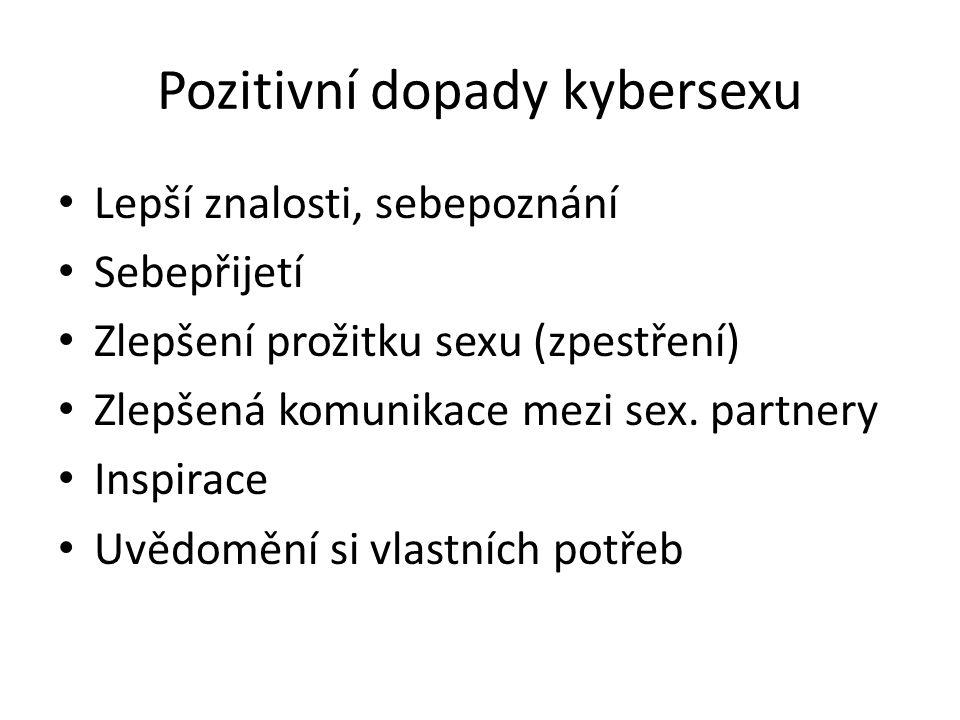 Pozitivní dopady kybersexu