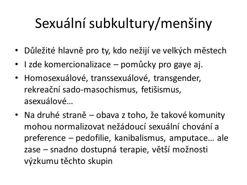 Sexuální subkultury/menšiny
