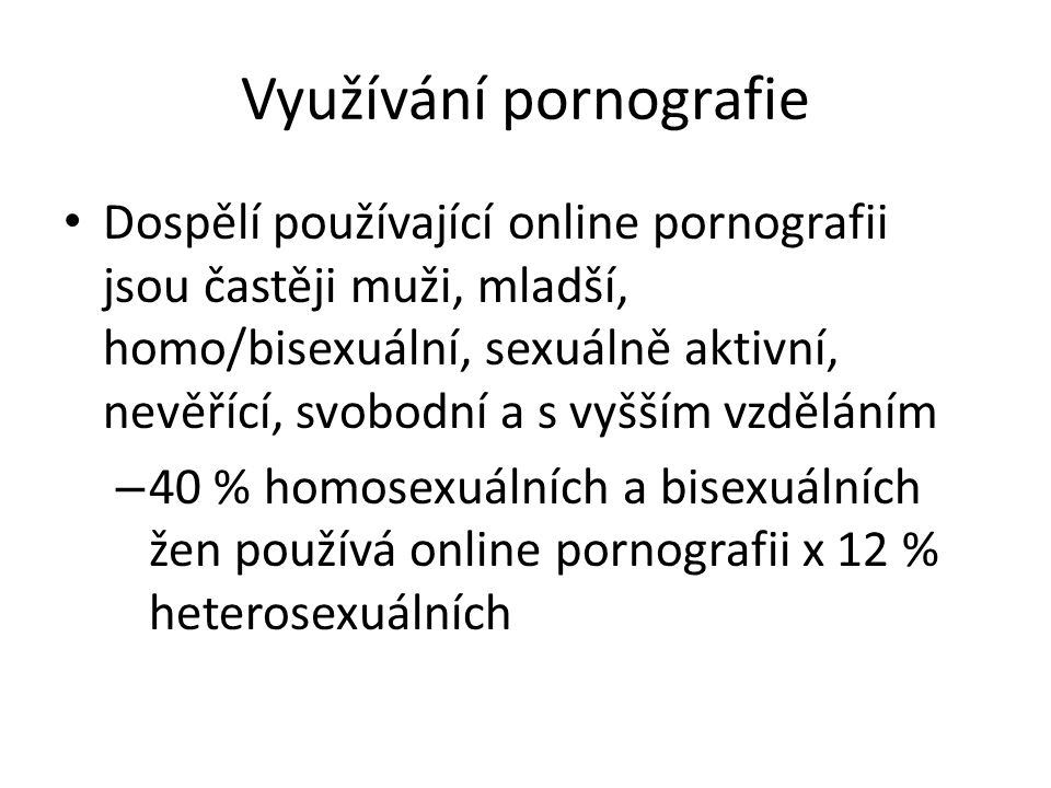 Využívání pornografie