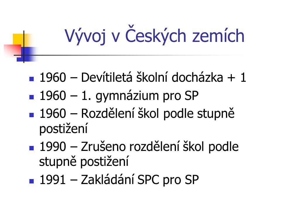 Vývoj v Českých zemích 1960 – Devítiletá školní docházka + 1