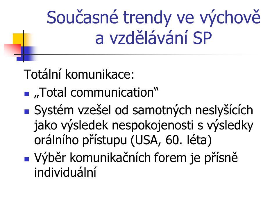 Současné trendy ve výchově a vzdělávání SP