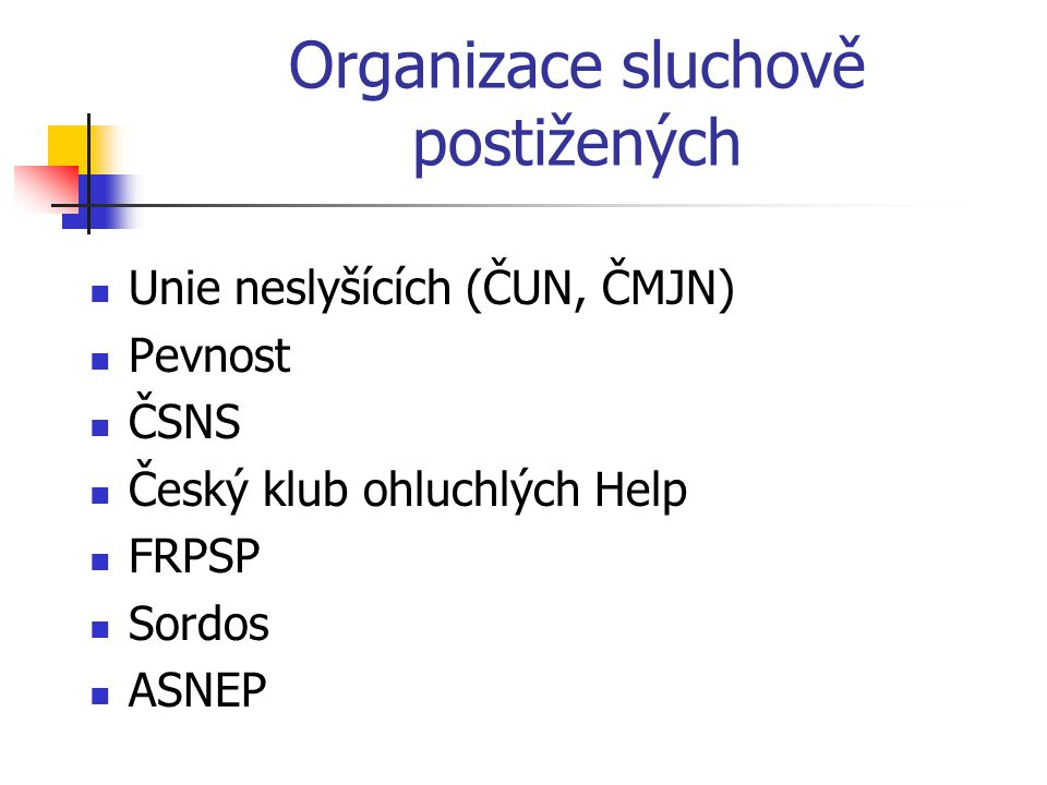 Organizace sluchově postižených
