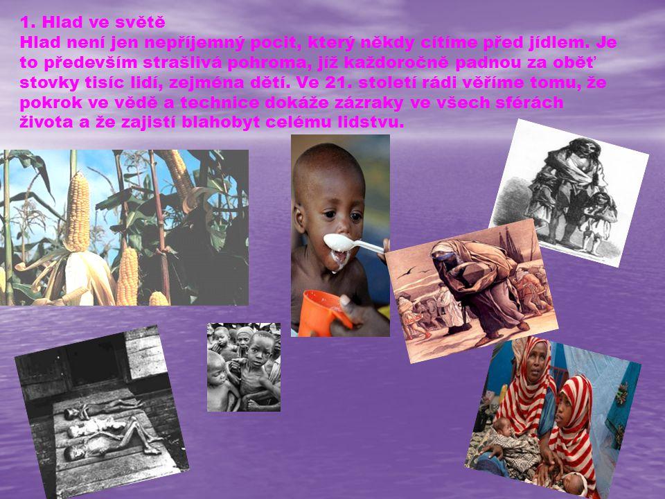 1. Hlad ve světě Hlad není jen nepříjemný pocit, který někdy cítíme před jídlem.