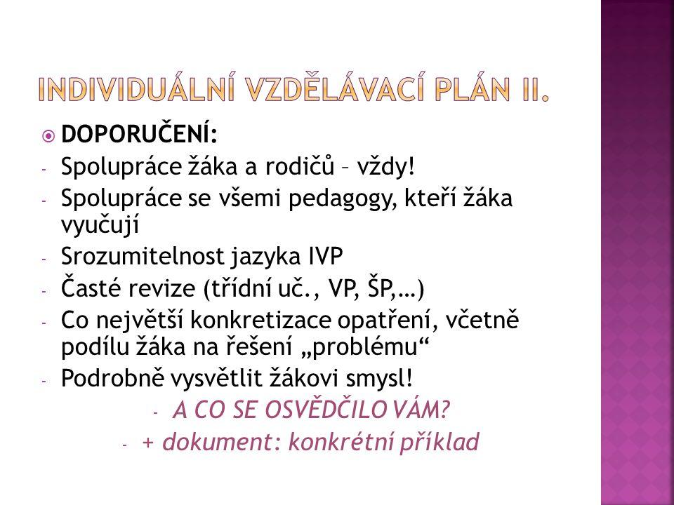 Individuální vzdělávací plán II.