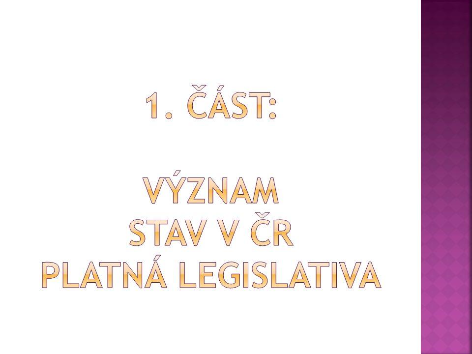 1. část: význam stav v čr platná legislativa