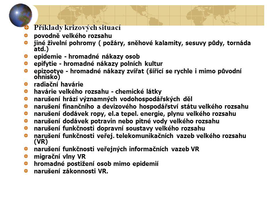 Příklady krizových situací