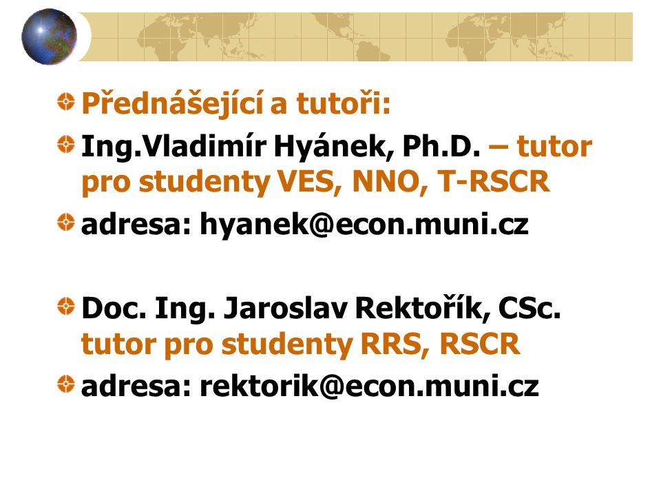 Přednášející a tutoři: