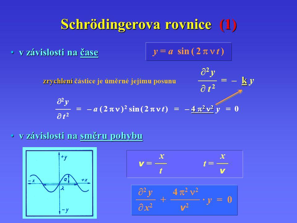 Schrödingerova rovnice (1)