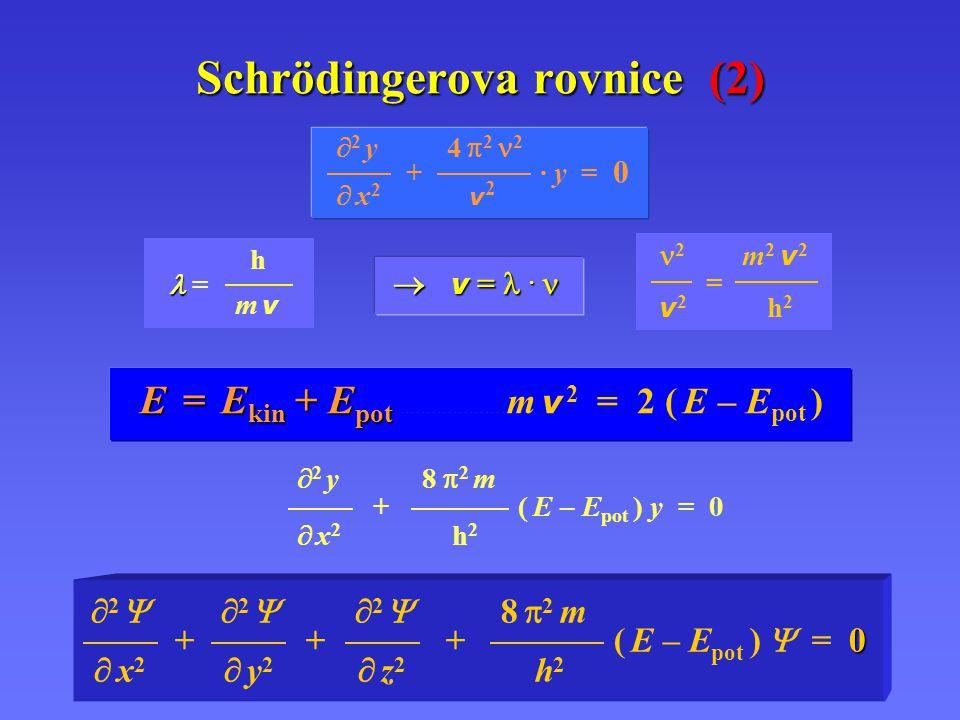 Schrödingerova rovnice (2)