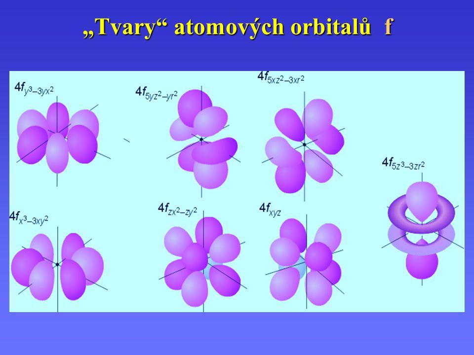 """""""Tvary atomových orbitalů f"""