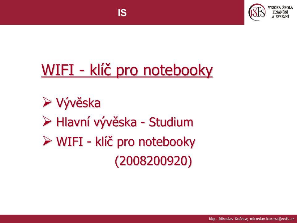 WIFI - klíč pro notebooky