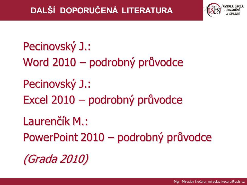 Word 2010 – podrobný průvodce