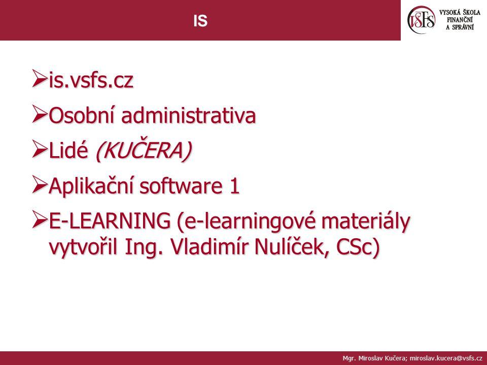 Osobní administrativa Lidé (KUČERA) Aplikační software 1