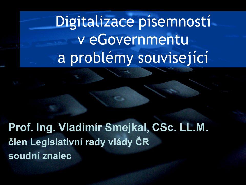 Digitalizace písemností v eGovernmentu a problémy související