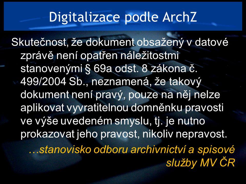 Digitalizace podle ArchZ
