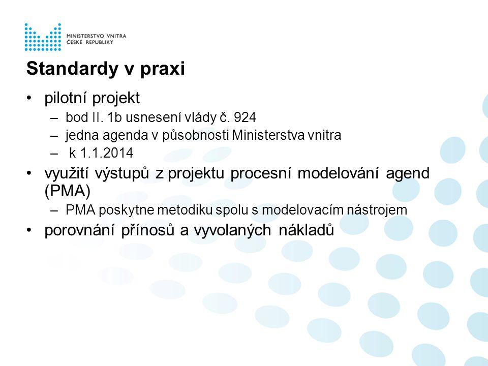 Standardy v praxi pilotní projekt