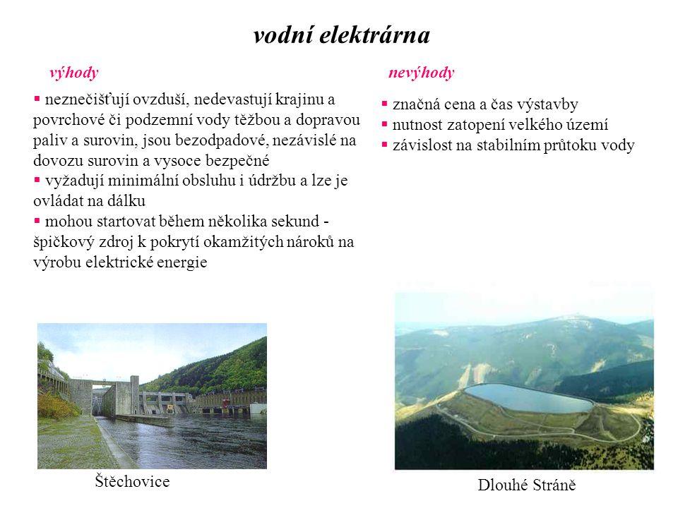vodní elektrárna výhody nevýhody