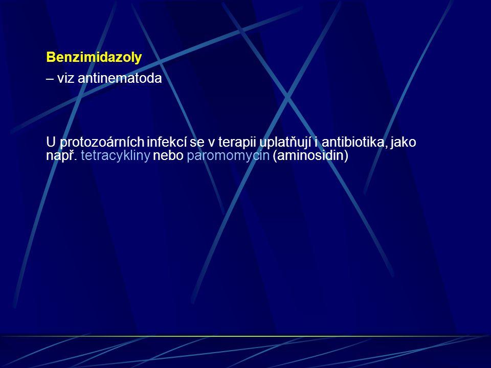 Benzimidazoly – viz antinematoda.