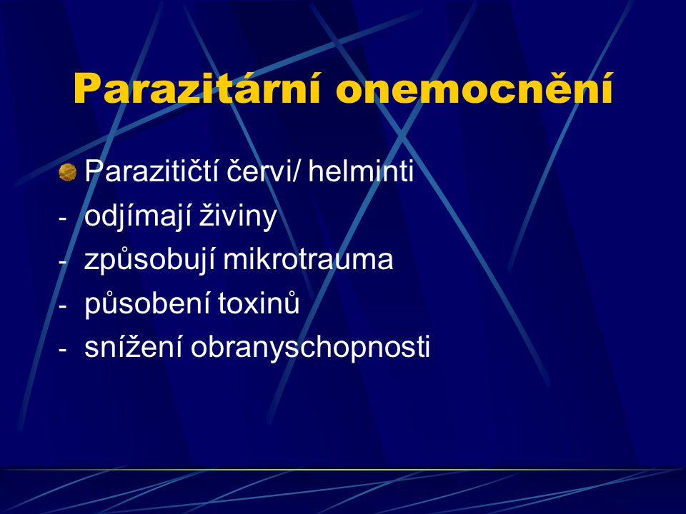 Parazitární onemocnění