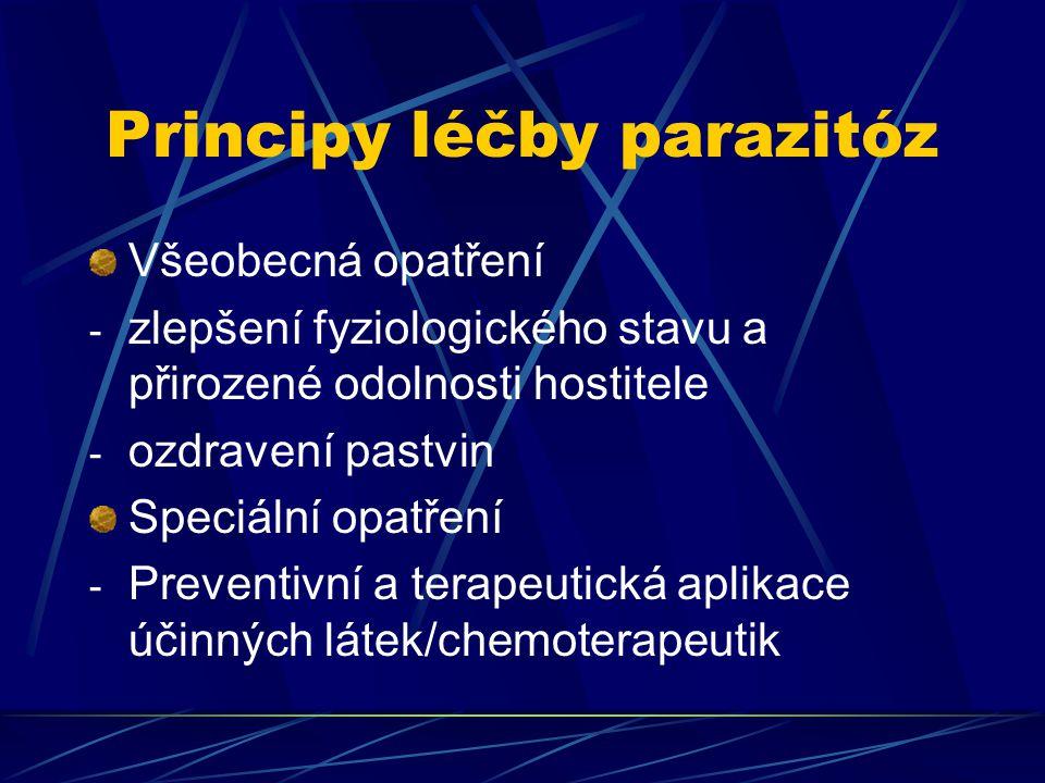Principy léčby parazitóz