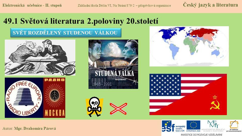 49.1 Světová literatura 2.poloviny 20.století