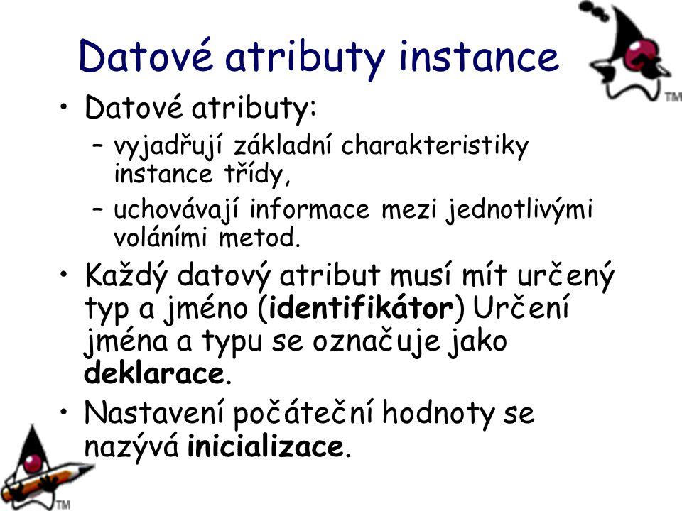 Datové atributy instance
