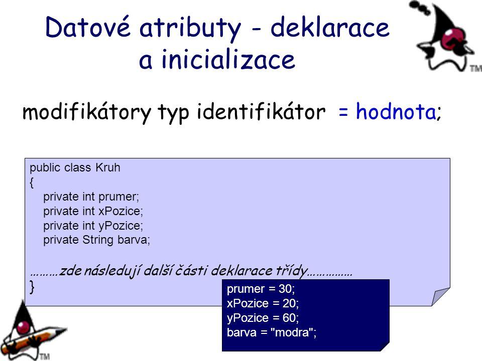 Datové atributy - deklarace a inicializace