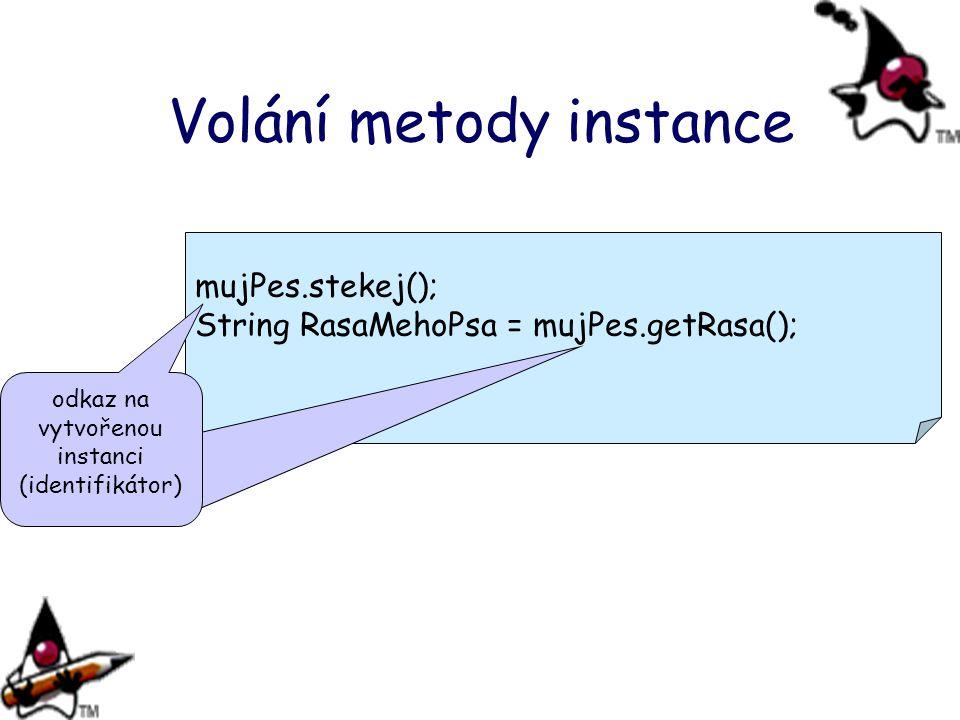 Volání metody instance