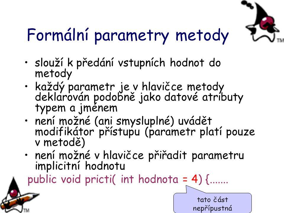 Formální parametry metody