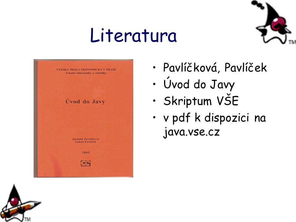 Literatura Pavlíčková, Pavlíček Úvod do Javy Skriptum VŠE