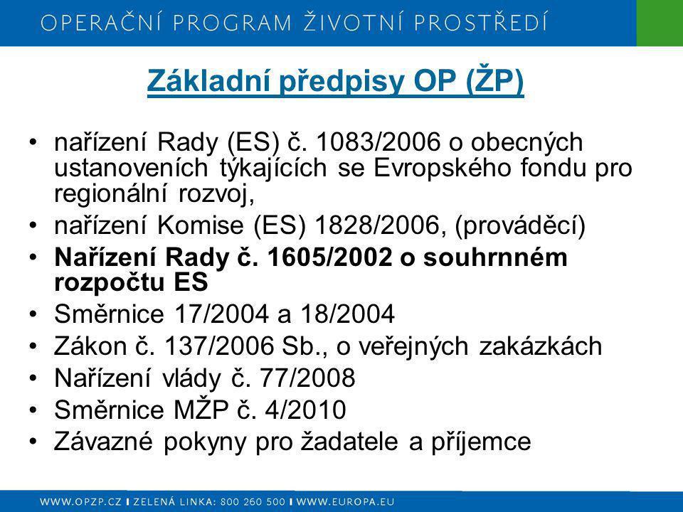 Základní předpisy OP (ŽP)