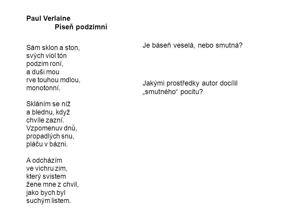 Paul Verlaine Píseň podzimní