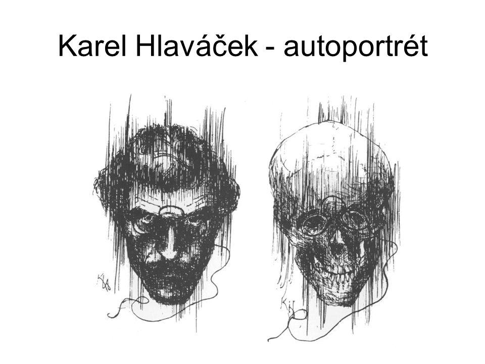 Karel Hlaváček - autoportrét