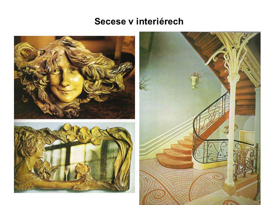 Secese v interiérech
