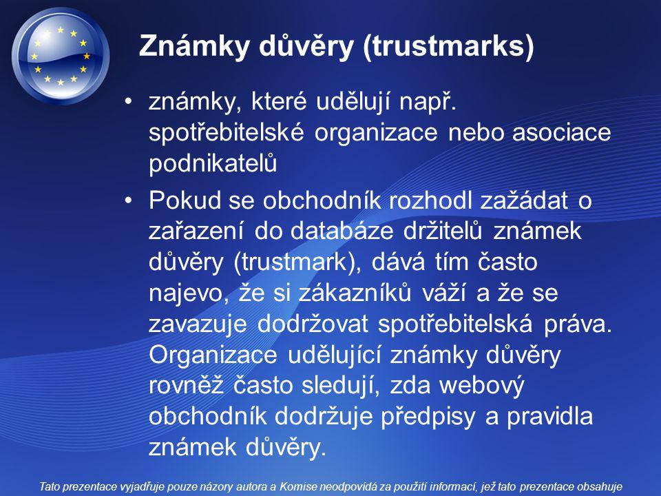 Známky důvěry (trustmarks)