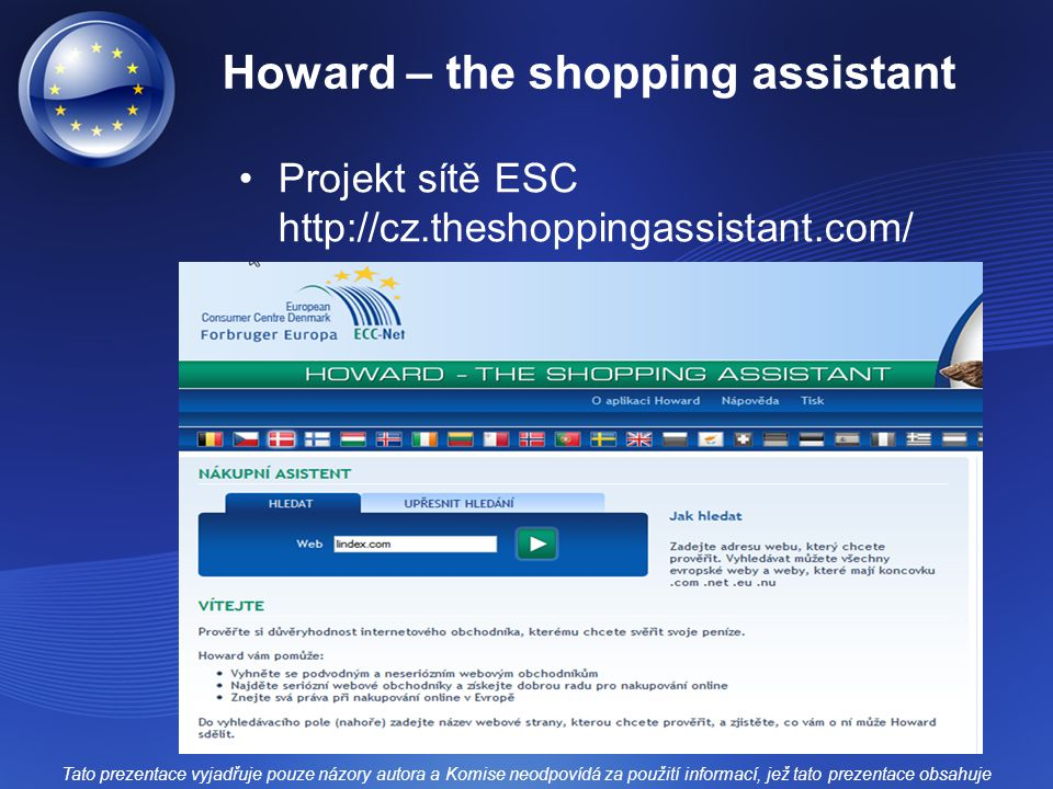 Howard – the shopping assistant