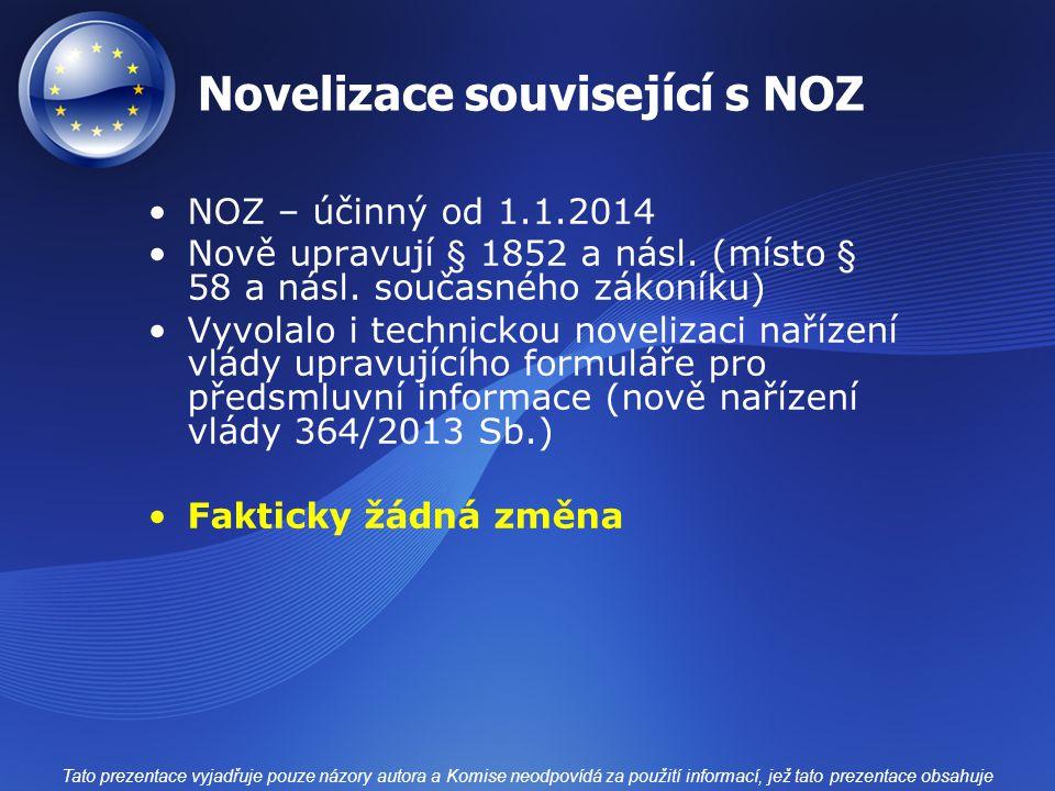 Novelizace související s NOZ