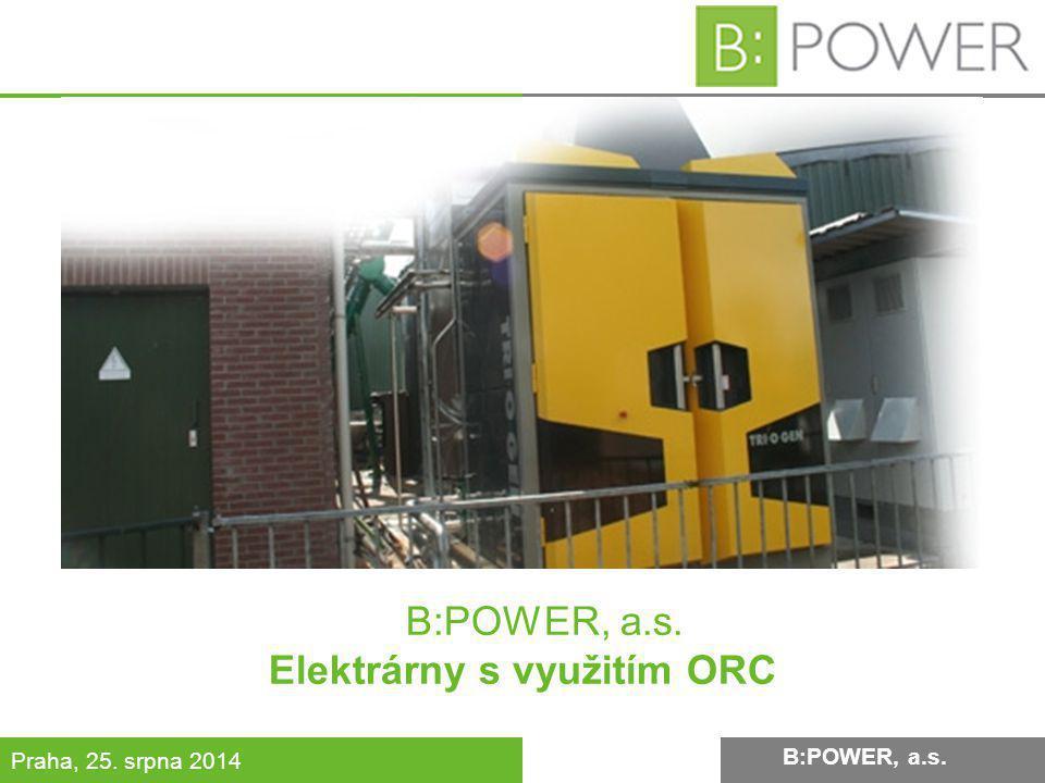 B:POWER, a.s. Elektrárny s využitím ORC
