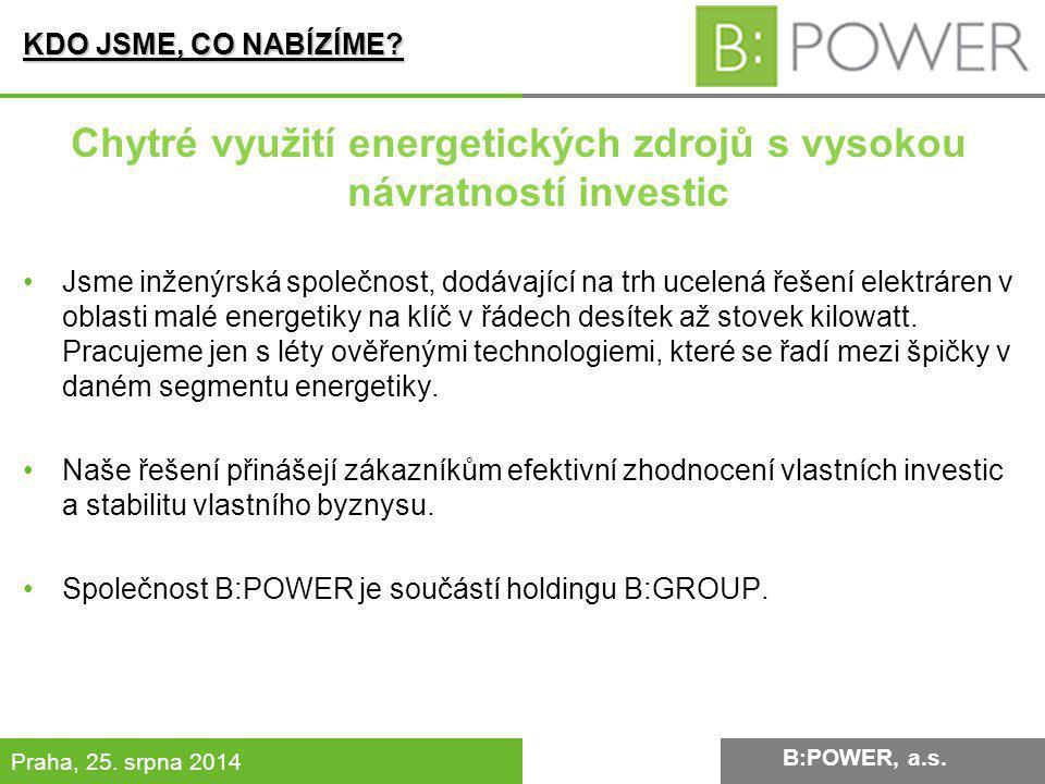 Chytré využití energetických zdrojů s vysokou návratností investic