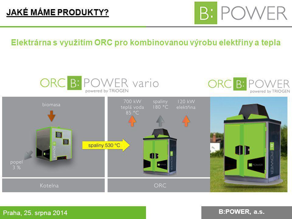 Elektrárna s využitím ORC pro kombinovanou výrobu elektřiny a tepla