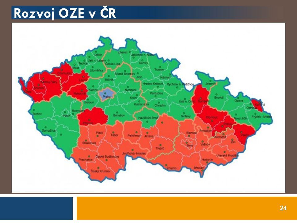 Rozvoj OZE v ČR