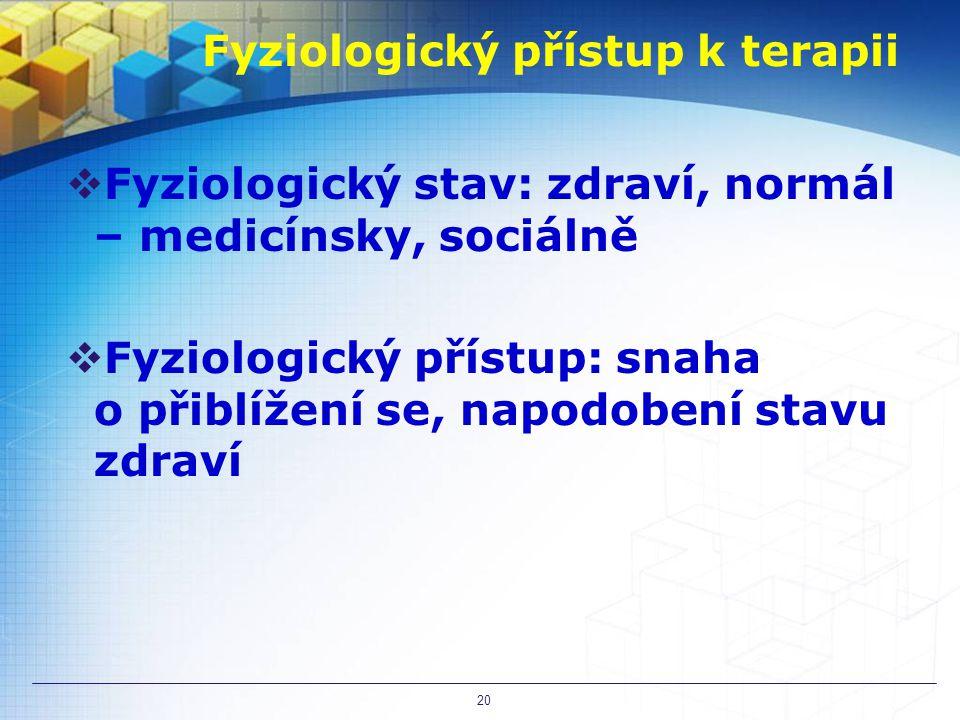 Fyziologický přístup k terapii