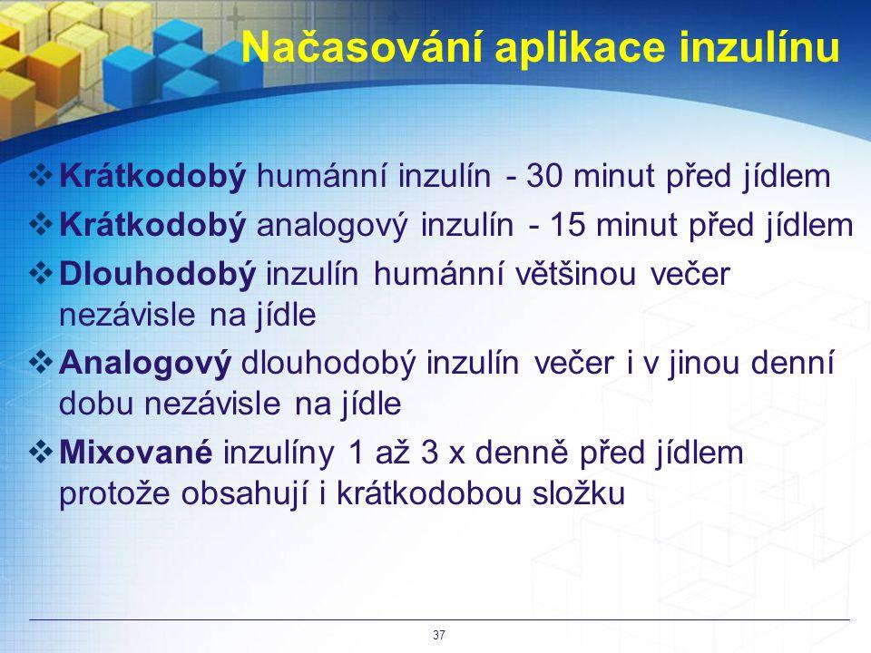 Načasování aplikace inzulínu