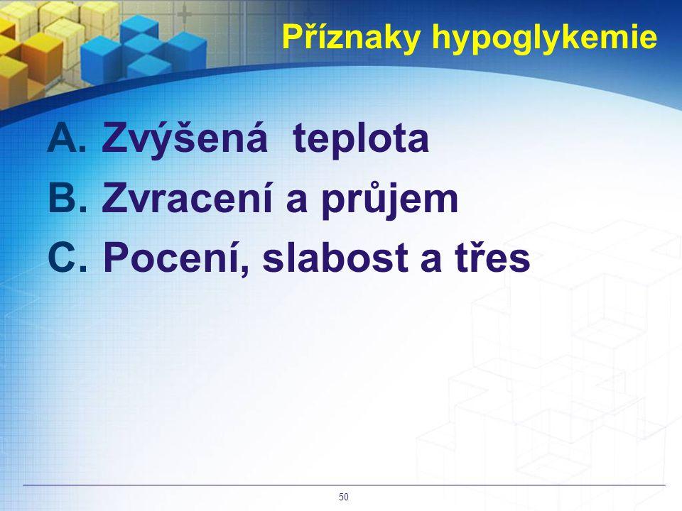 Příznaky hypoglykemie