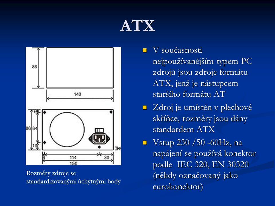 ATX V současnosti nejpoužívanějším typem PC zdrojů jsou zdroje formátu ATX, jenž je nástupcem staršího formátu AT.