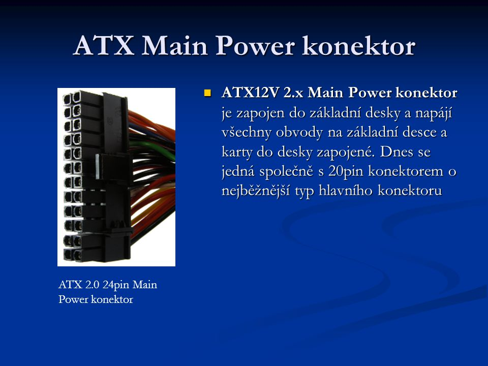 ATX Main Power konektor