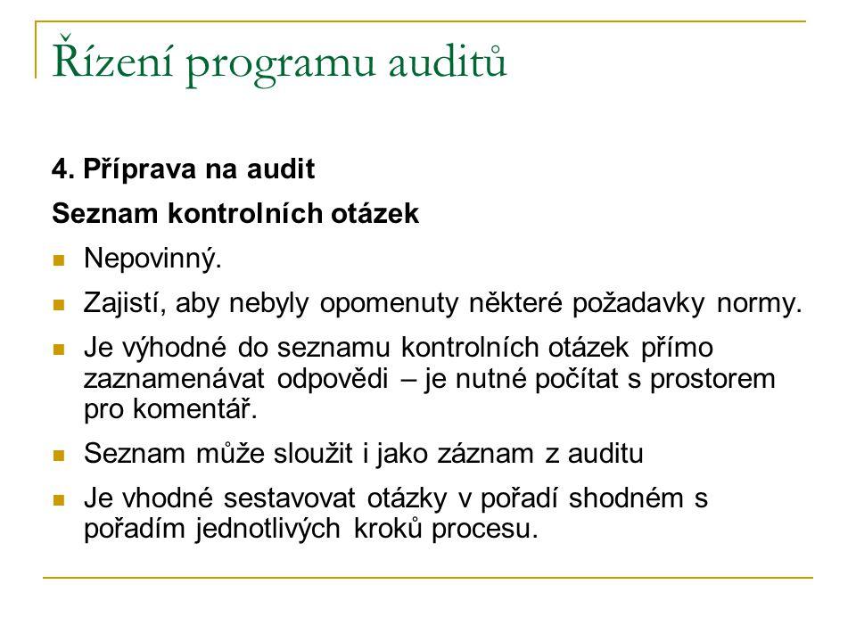 Řízení programu auditů