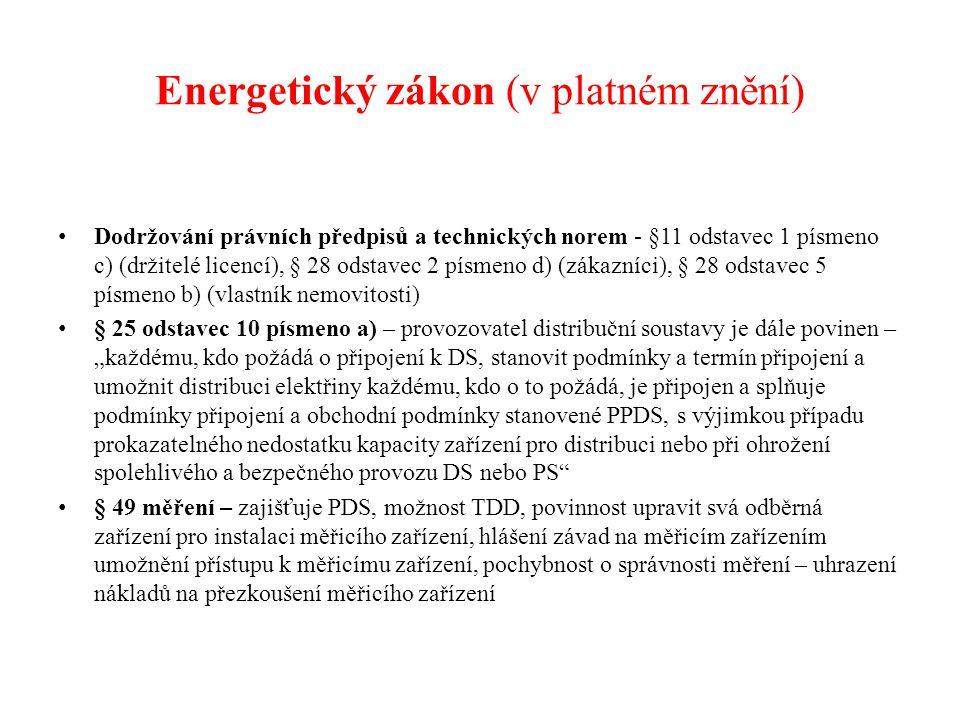 Energetický zákon (v platném znění)