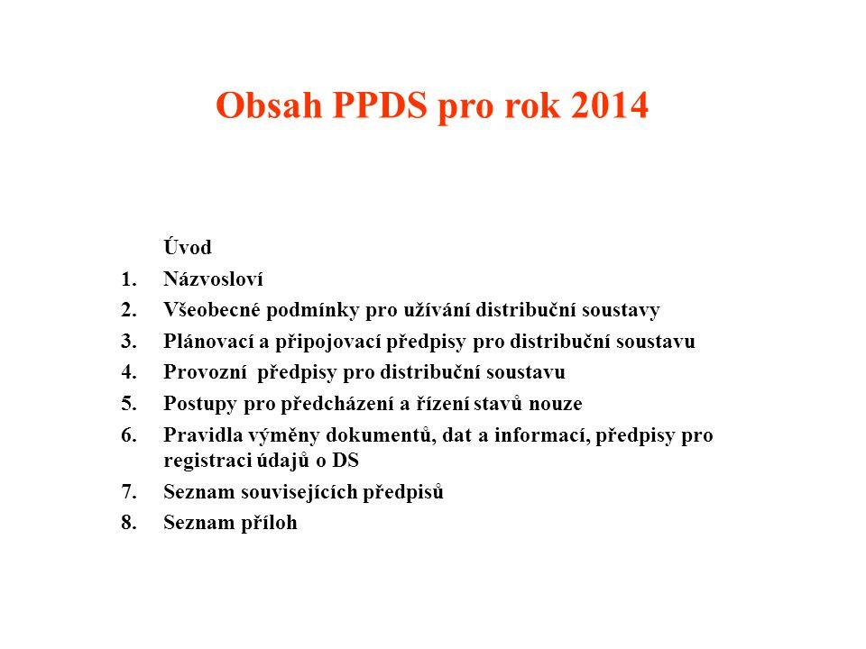 Obsah PPDS pro rok 2014 Úvod Názvosloví